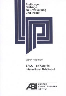 Cover: SADC - an actor in international relations?